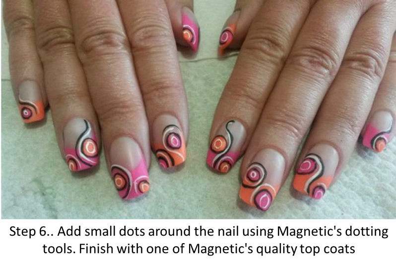 Step by Step Nail Art with Jenny Miller - Magnetic Nail Academy