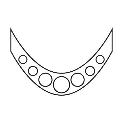 118404 French Silver Circles  Smile Line Image 1-w400