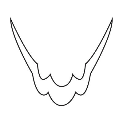 118406 French Silver Tribal Smile Line Image 1-w400