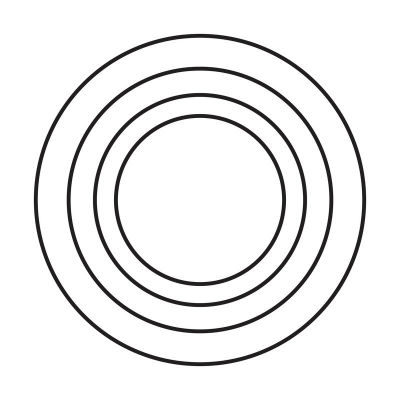 118408 French Silver Circles Smile Line Image 1-w400