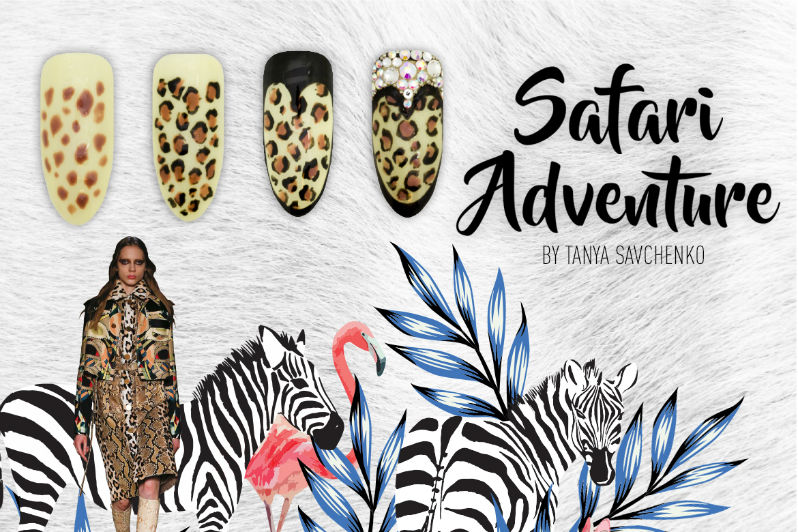Safari Step By Step Nail Art Inspiration
