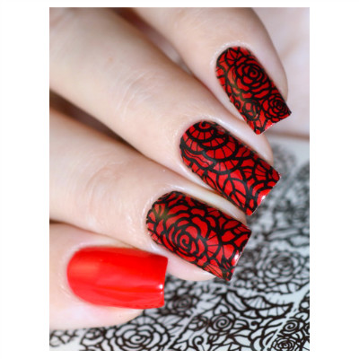 Black Roses Nail Art Decals Magnetic Nail Academy