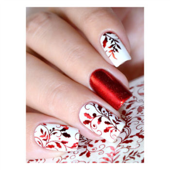 Fine Foil Red Leaves MF135R