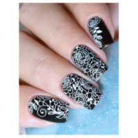 Fine lace Roses - White MS338W