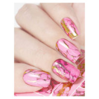 Pink and Gold Splashes MJ173