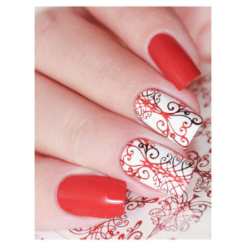 Red Chandeleir Nail Art Decal MF139R