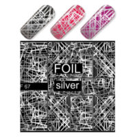 Silver Geometric Lines MF067S