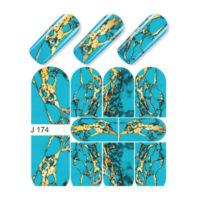 Turquoise with Gold Splashes MJ174
