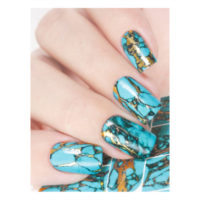 Turquoise with Gold Splashes MJ174 example